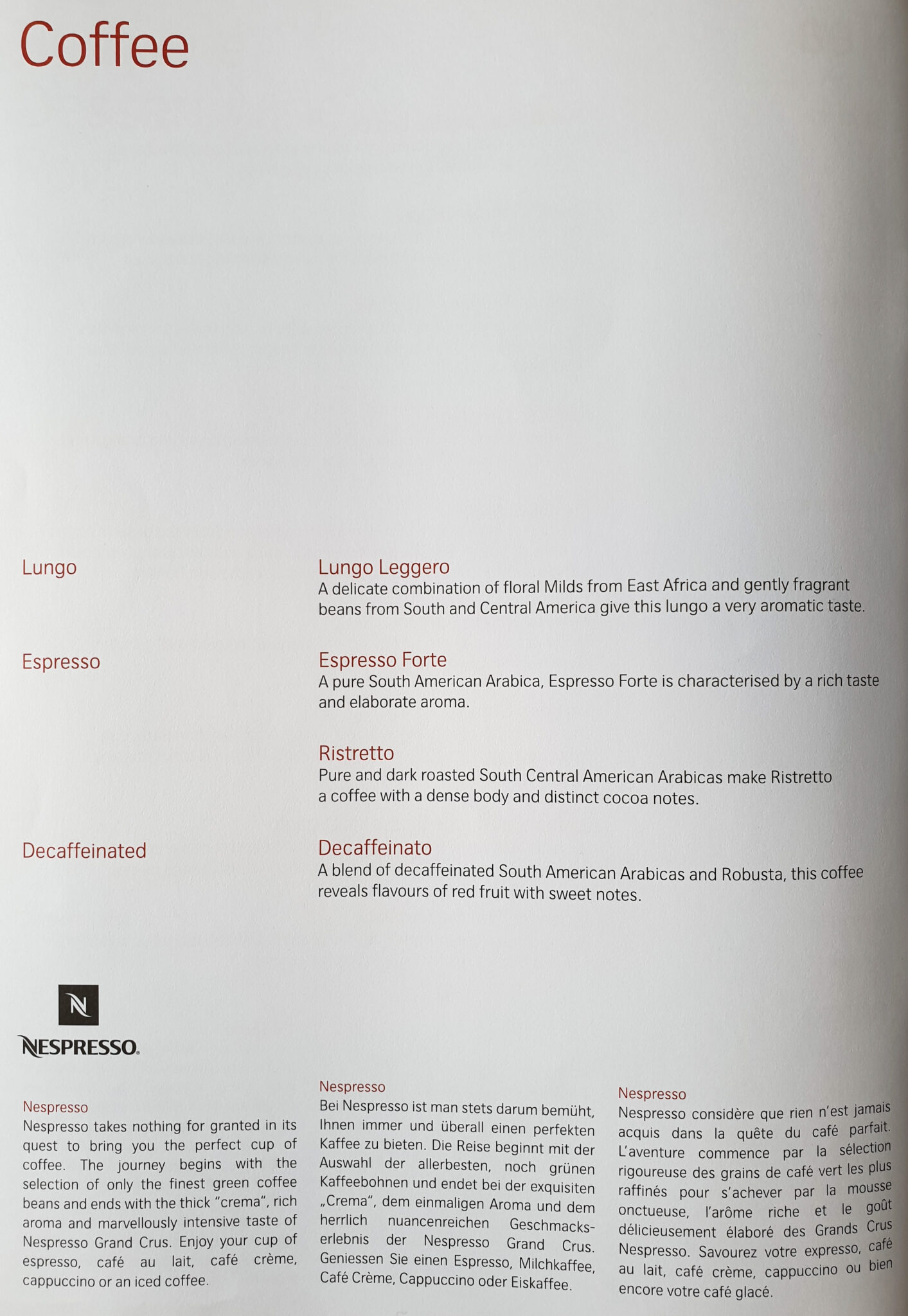 lx f menu yul zrh 7 - REVIEW - SWISS : First Class - Montreal YUL to Zurich ZRH (B777)