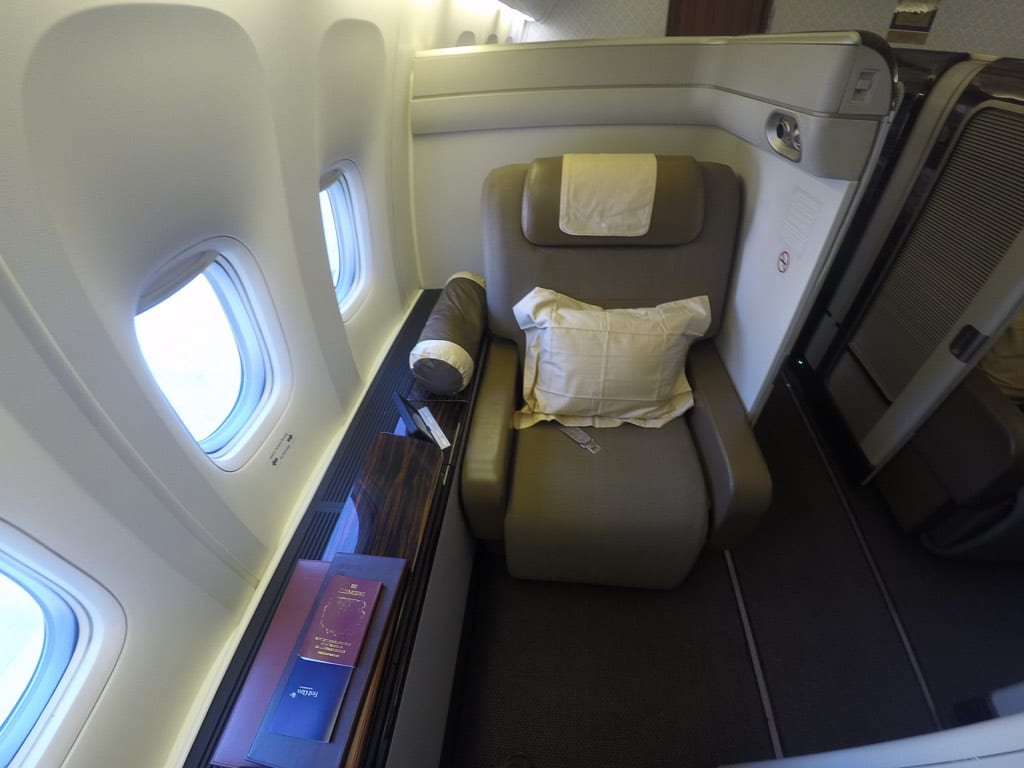 GA F CGK LHR 4 - REVIEW - Garuda Indonesia : First Class - Jakarta CGK to London LHR (B777)