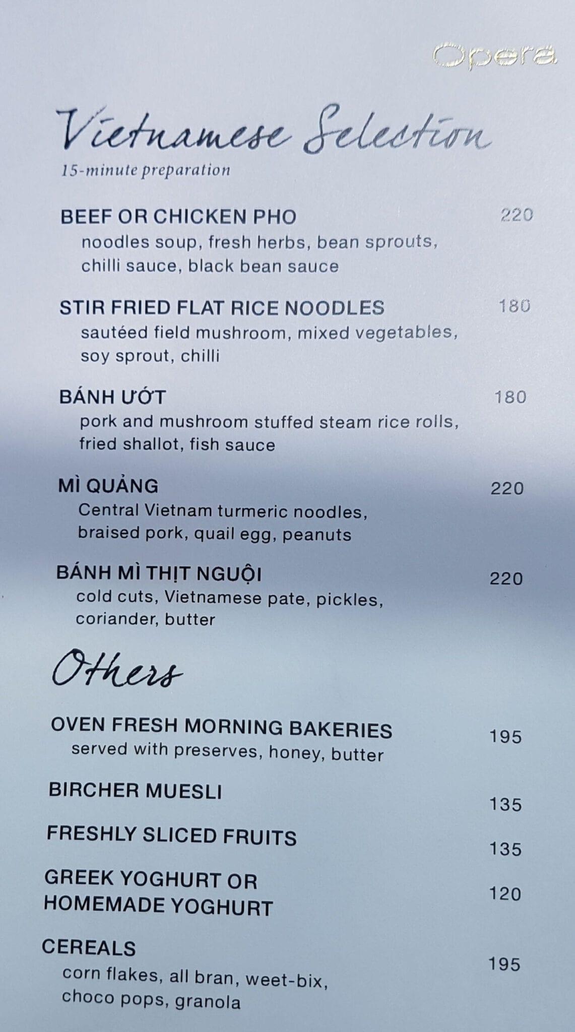 PH Saigon breakfast menu 2 scaled - REVIEW - Park Hyatt Saigon : Deluxe King (w. Pool Access)