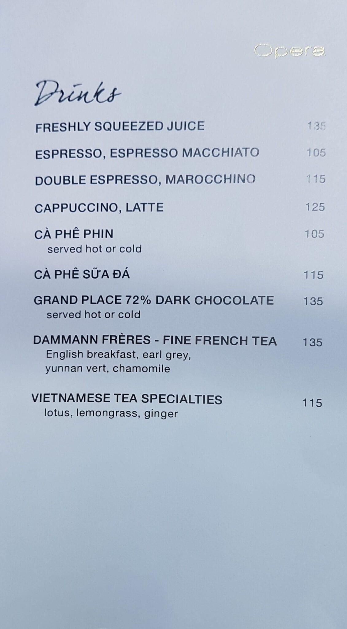 PH Saigon breakfast menu 3 scaled - REVIEW - Park Hyatt Saigon : Deluxe King (w. Pool Access)