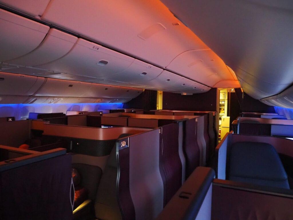 Q suites QR LHR DOH 1 1024x768 - REVIEW - Qatar Airways : Q Suites Business Class - B777 - London (LHR) to Doha (DOH)