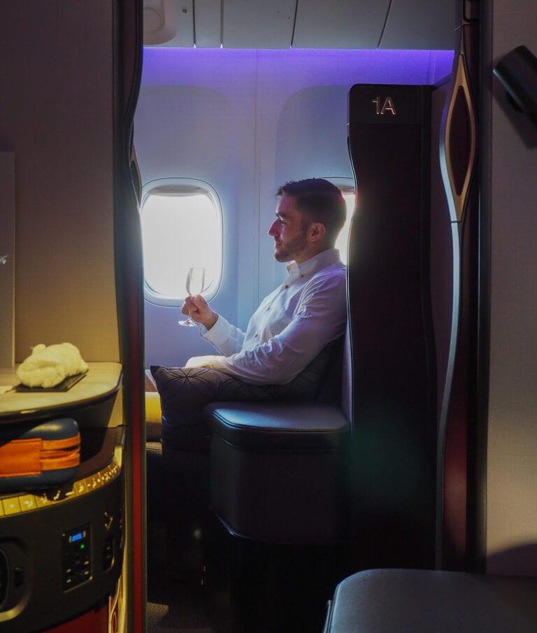 Q suites QR LHR DOH 16 768x905 - REVIEW - Qatar Airways : Q Suites Business Class - B777 - London (LHR) to Doha (DOH)