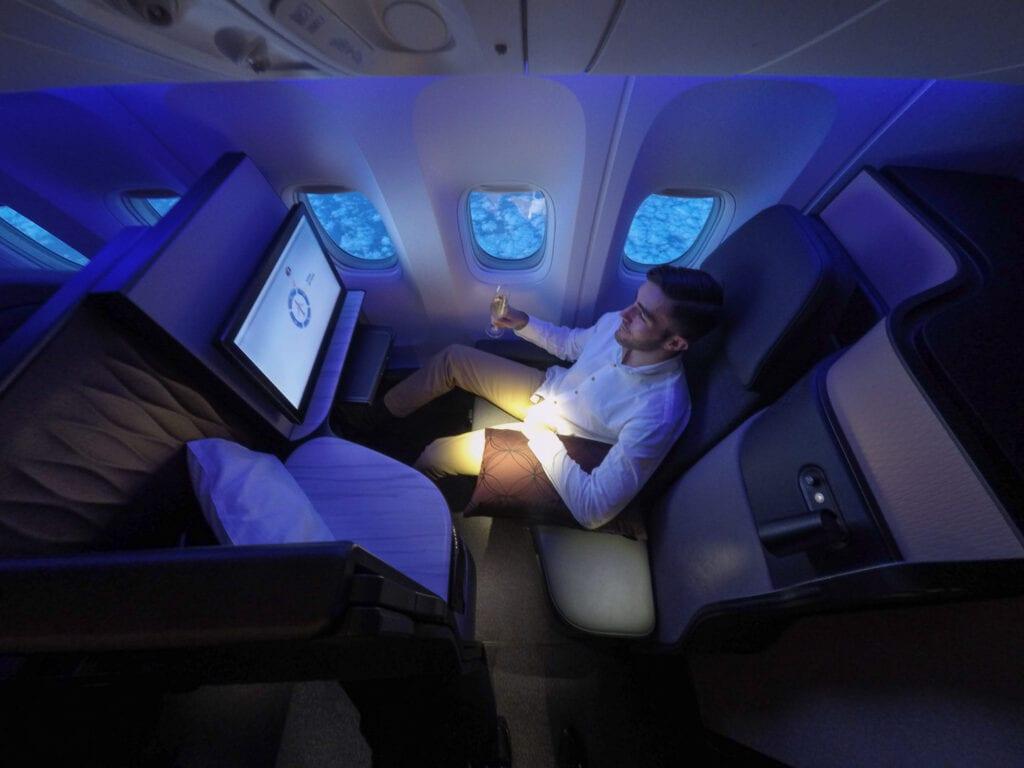 Q suites QR LHR DOH 19 1024x768 - REVIEW - Qatar Airways : Q Suites Business Class - B777 - London (LHR) to Doha (DOH)