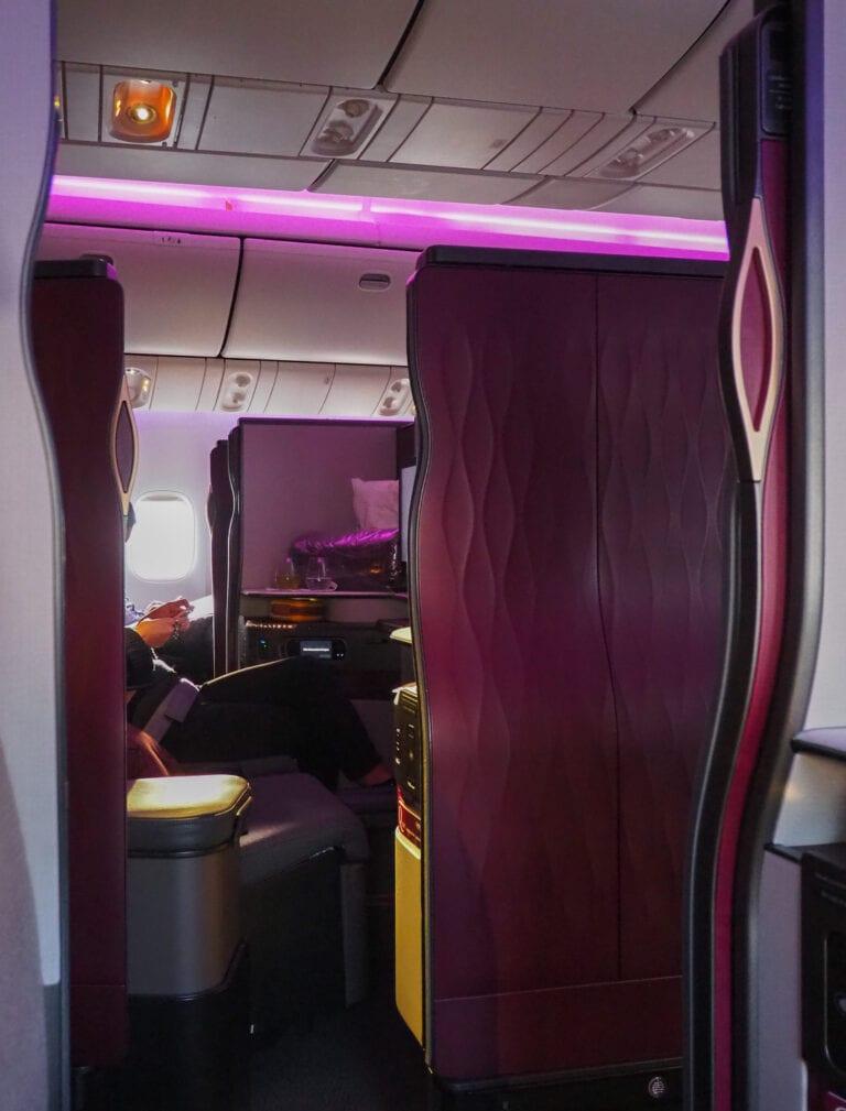 Q suites QR LHR DOH 21 768x1009 - REVIEW - Qatar Airways : Q Suites Business Class - B777 - London (LHR) to Doha (DOH)