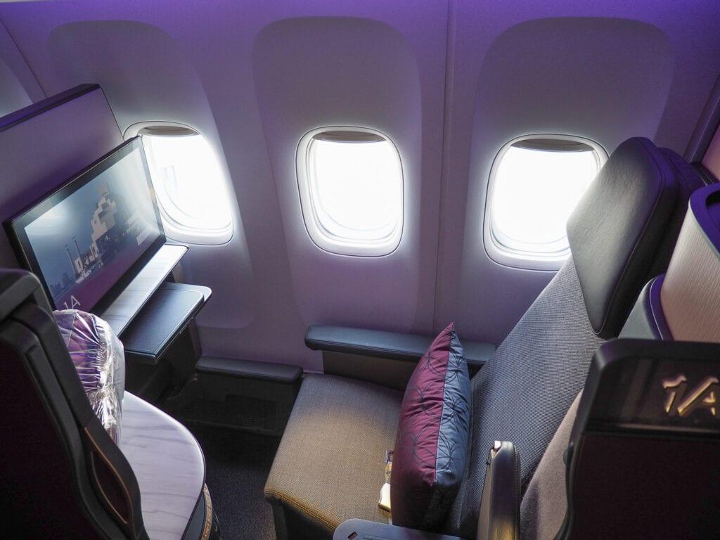 Q suites QR LHR DOH 3 1024x768 - REVIEW - Qatar Airways : Q Suites Business Class - B777 - London (LHR) to Doha (DOH)