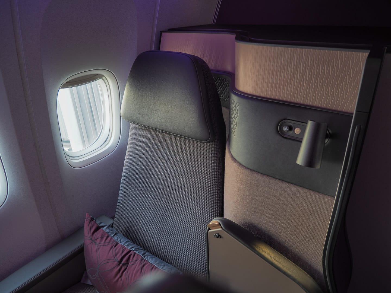 Q suites QR LHR DOH 6 - REVIEW - Qatar Airways : Q Suites Business Class - B777 - London (LHR) to Doha (DOH)