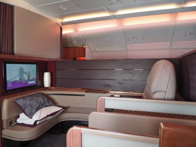 QR F A380 LHR 14 768x576 - REVIEW - Qatar Airways : First Class - A380 - Doha (DOH) to London (LHR)