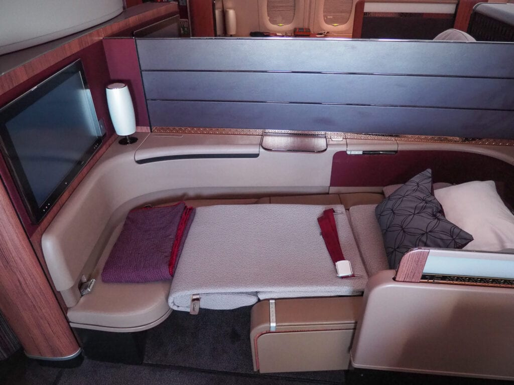 QR F A380 LHR 32 1024x768 - REVIEW - Qatar Airways : First Class - A380 - Doha (DOH) to London (LHR)