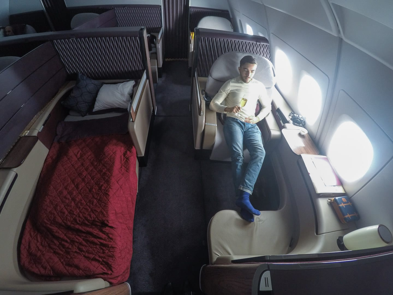 QR F A380 LHR 34 - REVIEW - Qatar Airways : First Class - A380 - Doha (DOH) to London (LHR)