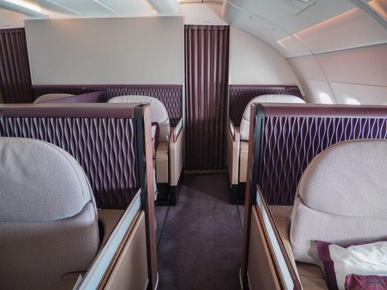 QR F A380 LHR 4 768x576 - REVIEW - Qatar Airways : First Class - A380 - Doha (DOH) to London (LHR)