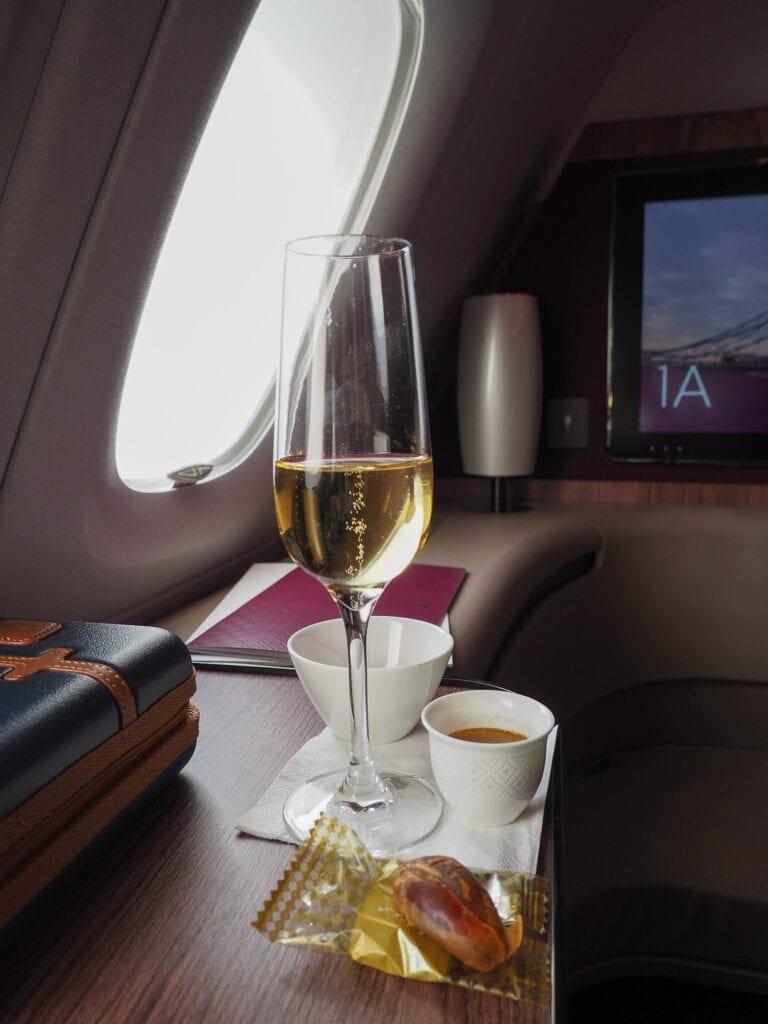 QR F A380 LHR 6 768x1024 - REVIEW - Qatar Airways : First Class - A380 - Doha (DOH) to London (LHR)