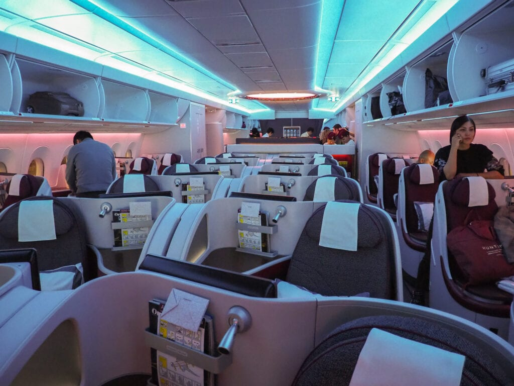 QR J A350 3 1024x768 - REVIEW - Qatar Airways : Business Class - A350 - Tokyo (HND) to Doha (DOH)