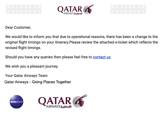 qatar schedule change - TRIP REPORT - Q Suites and First Class to Japan