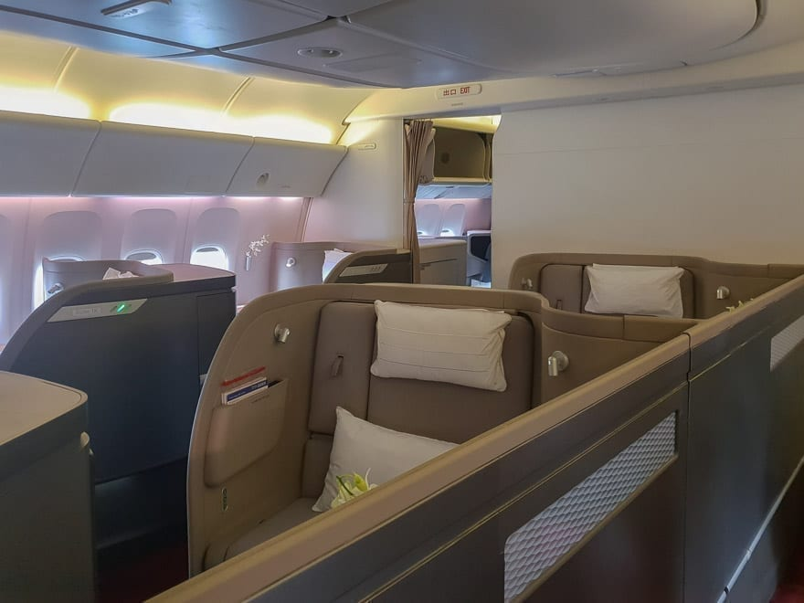CX F MXP 1 - REVIEW - Cathay Pacific : First Class - B777 - Milan (MXP) to Hong Kong (HKG)