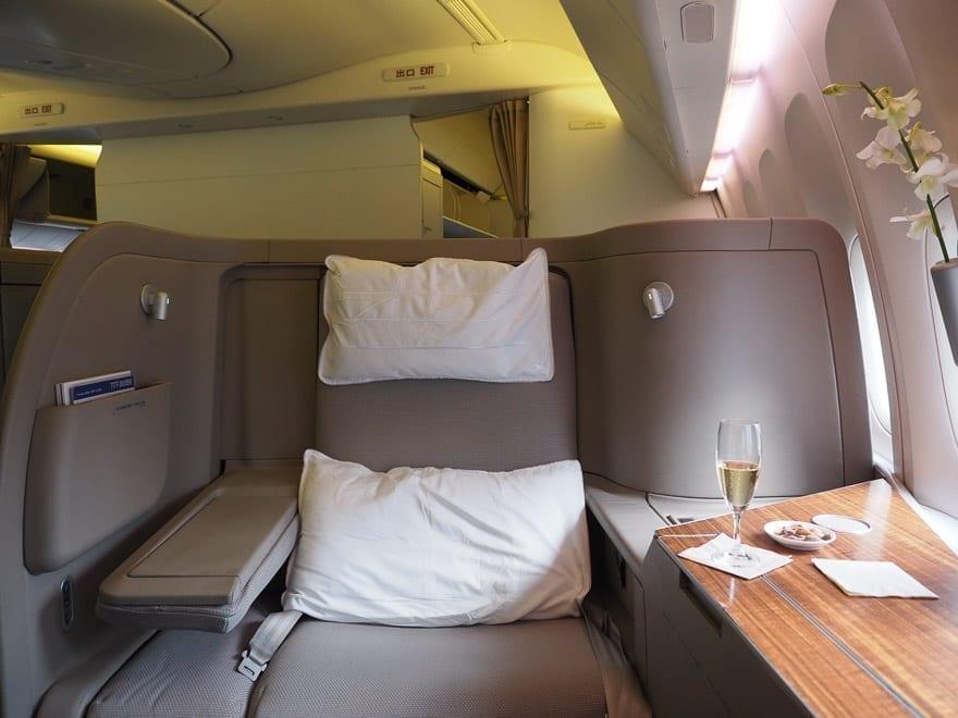 CX F MXP 4 - REVIEW - Cathay Pacific : First Class - B777 - Milan (MXP) to Hong Kong (HKG)