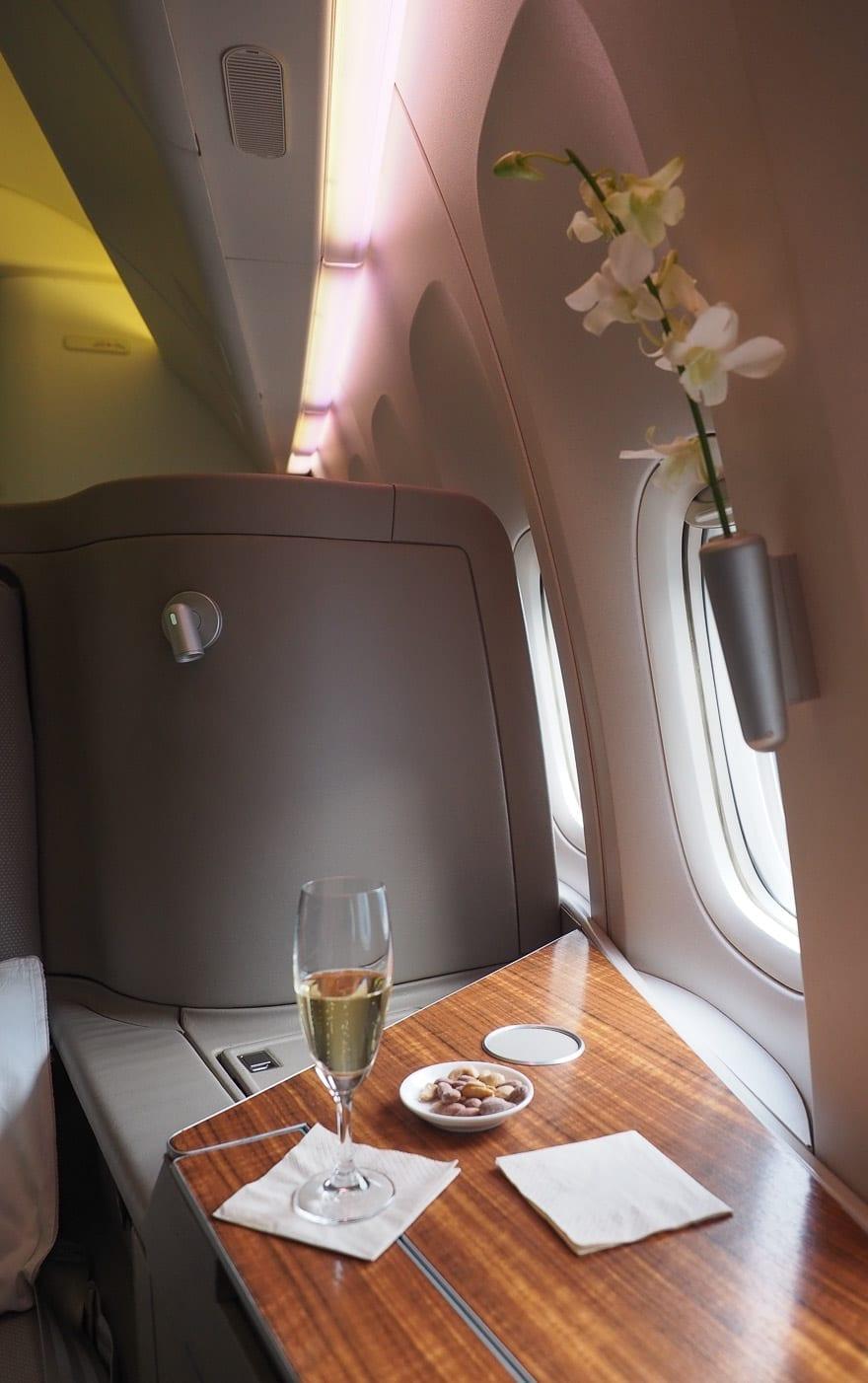 CX F MXP 5 - REVIEW - Cathay Pacific : First Class - B777 - Milan (MXP) to Hong Kong (HKG)