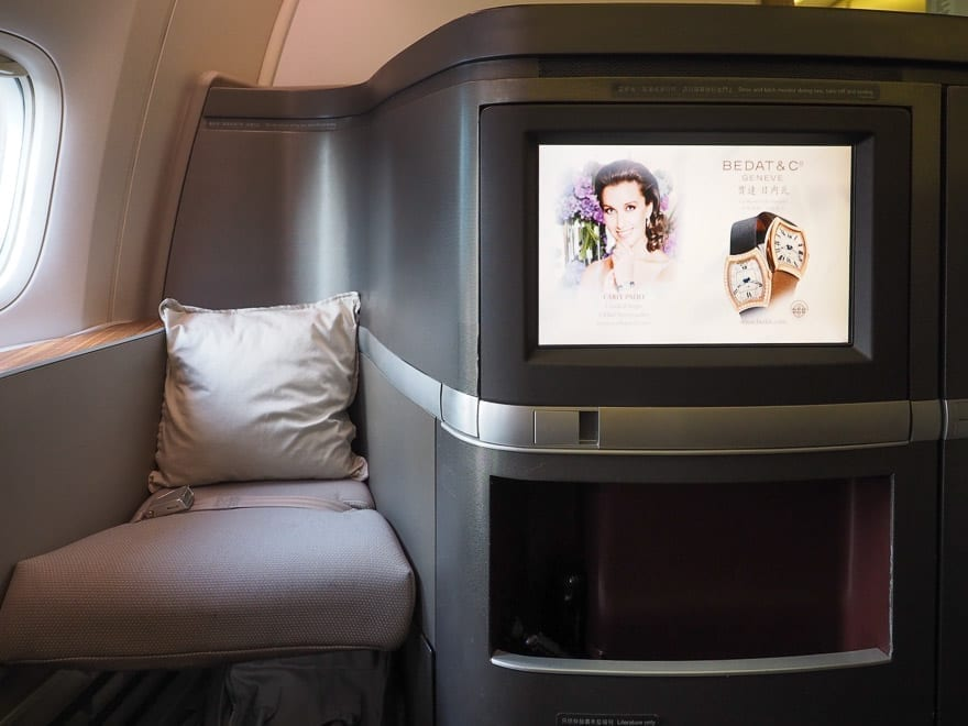CX F MXP 8 - REVIEW - Cathay Pacific : First Class - B777 - Milan (MXP) to Hong Kong (HKG)