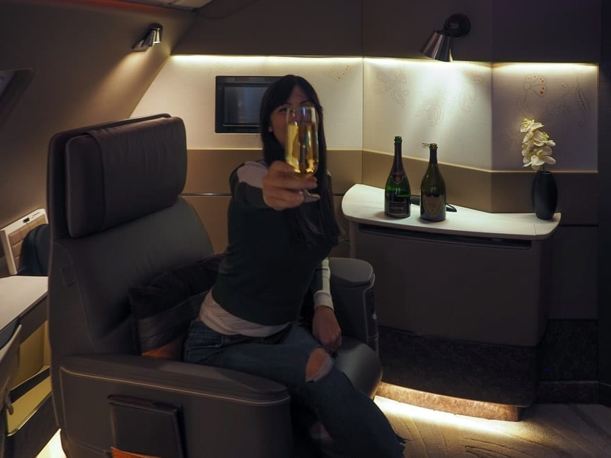 SQ new suites PVG 68 - REVIEW - Singapore Airlines : (NEW) First Class Suites - A380 - Shanghai (PVG) to Singapore (SIN)