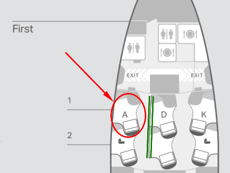 cx f seatmap - REVIEW - Cathay Pacific : First Class - B777 - Milan (MXP) to Hong Kong (HKG)