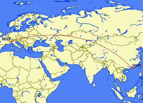 mxp hkg - REVIEW - Cathay Pacific : First Class - B777 - Milan (MXP) to Hong Kong (HKG)