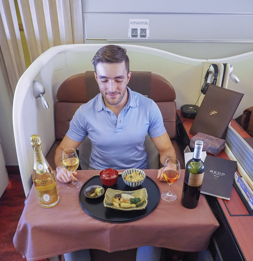 JL F Cristal etro de 2018 46 - REVIEW - JAL : First Class - B777 - Tokyo (HND) to London (LHR)