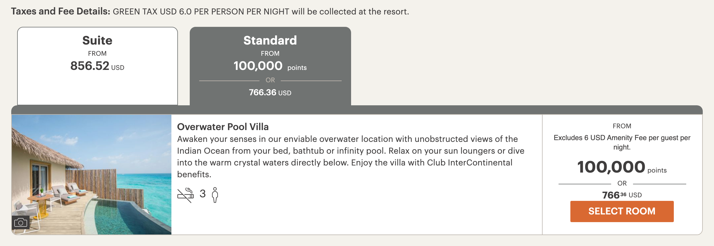 ihg booking maldives - AMAZING DEAL - $500 a night water villa with pool at the Intercontinental Maldives!