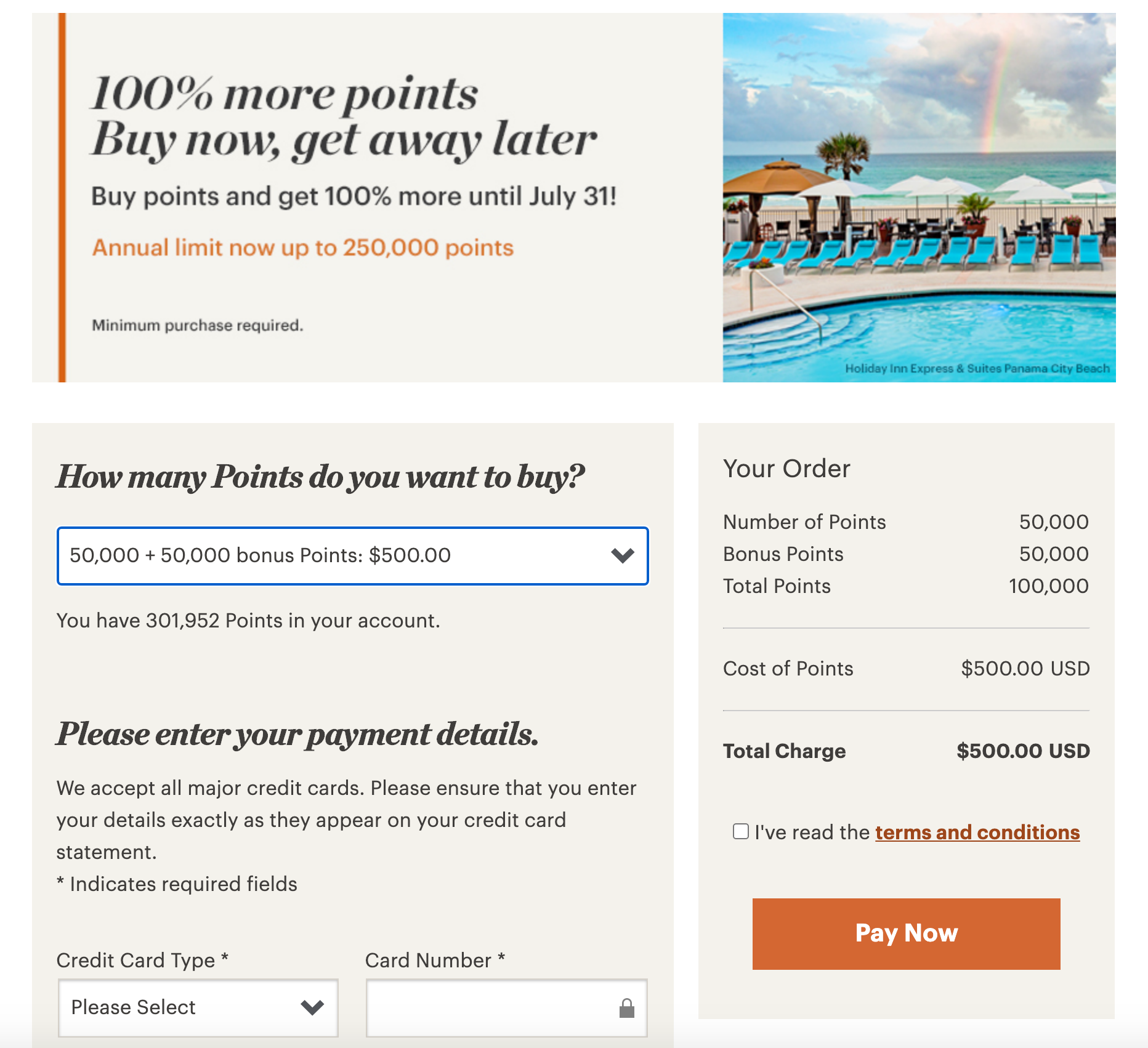 ihg points buy 0.5c 100pct - AMAZING DEAL - $500 a night water villa with pool at the Intercontinental Maldives!