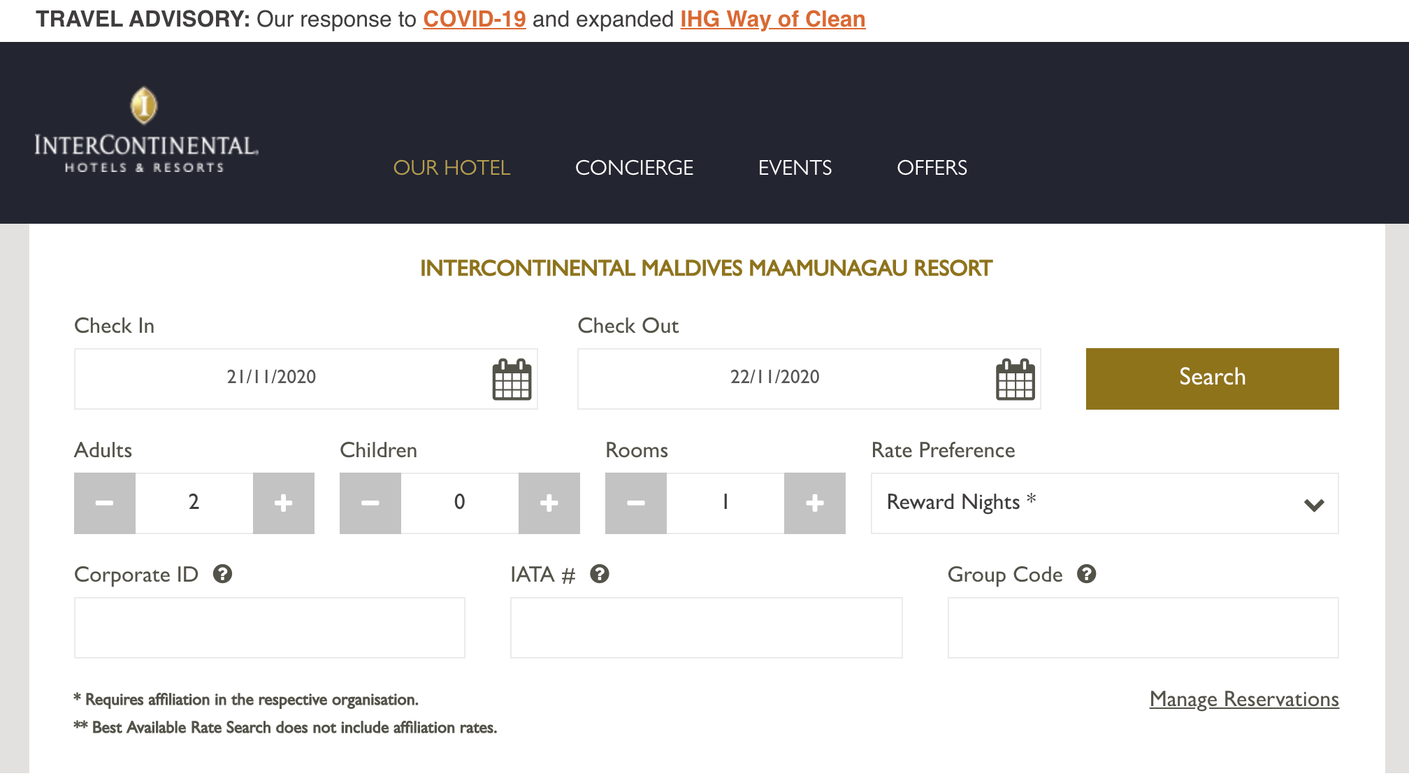 search ihg maldives - AMAZING DEAL - $500 a night water villa with pool at the Intercontinental Maldives!