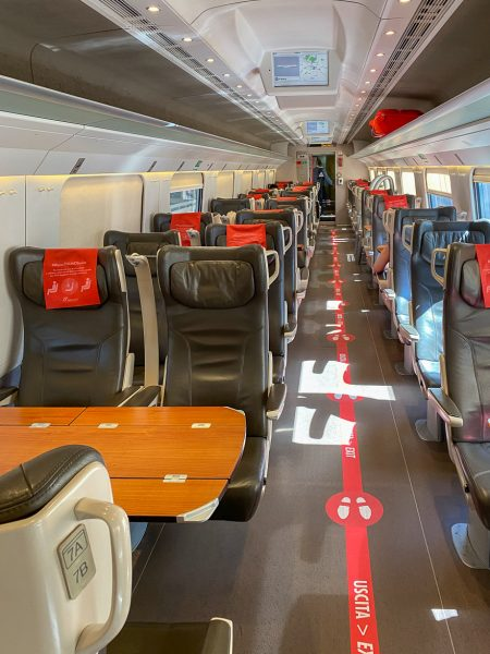 train venice florence 6 450x600 - REVIEW - Frecciargento : First Class - Train - Florence to Venice [COVID-era]
