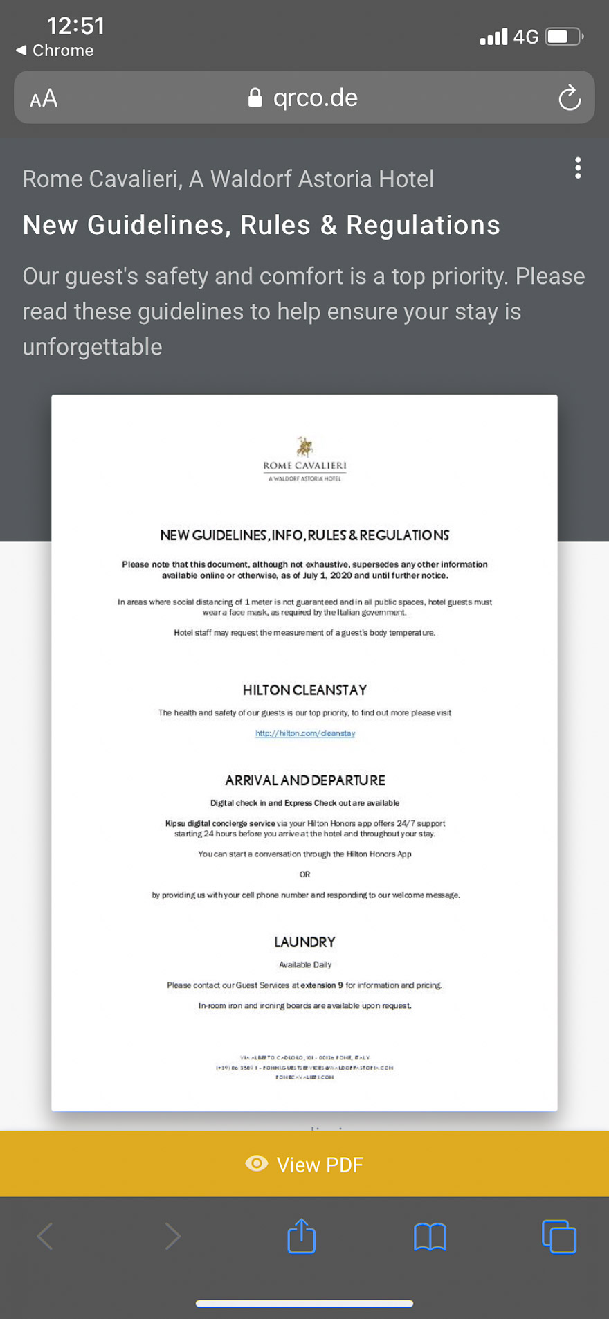 waldorf cavalieri 12 - REVIEW - Rome Cavalieri a Waldorf Astoria Hotel : Premium Rome View Room [COVID-era]