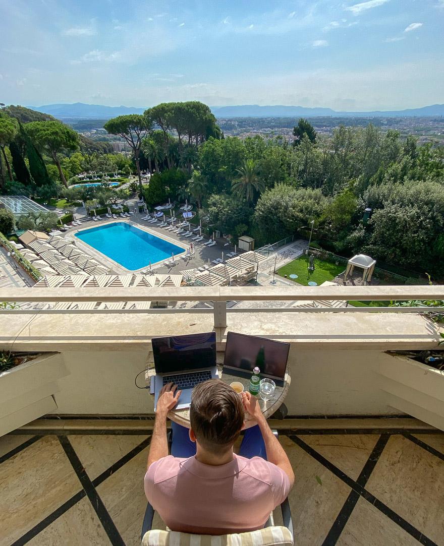 waldorf cavalieri 42 - REVIEW - Rome Cavalieri a Waldorf Astoria Hotel : Premium Rome View Room [COVID-era]