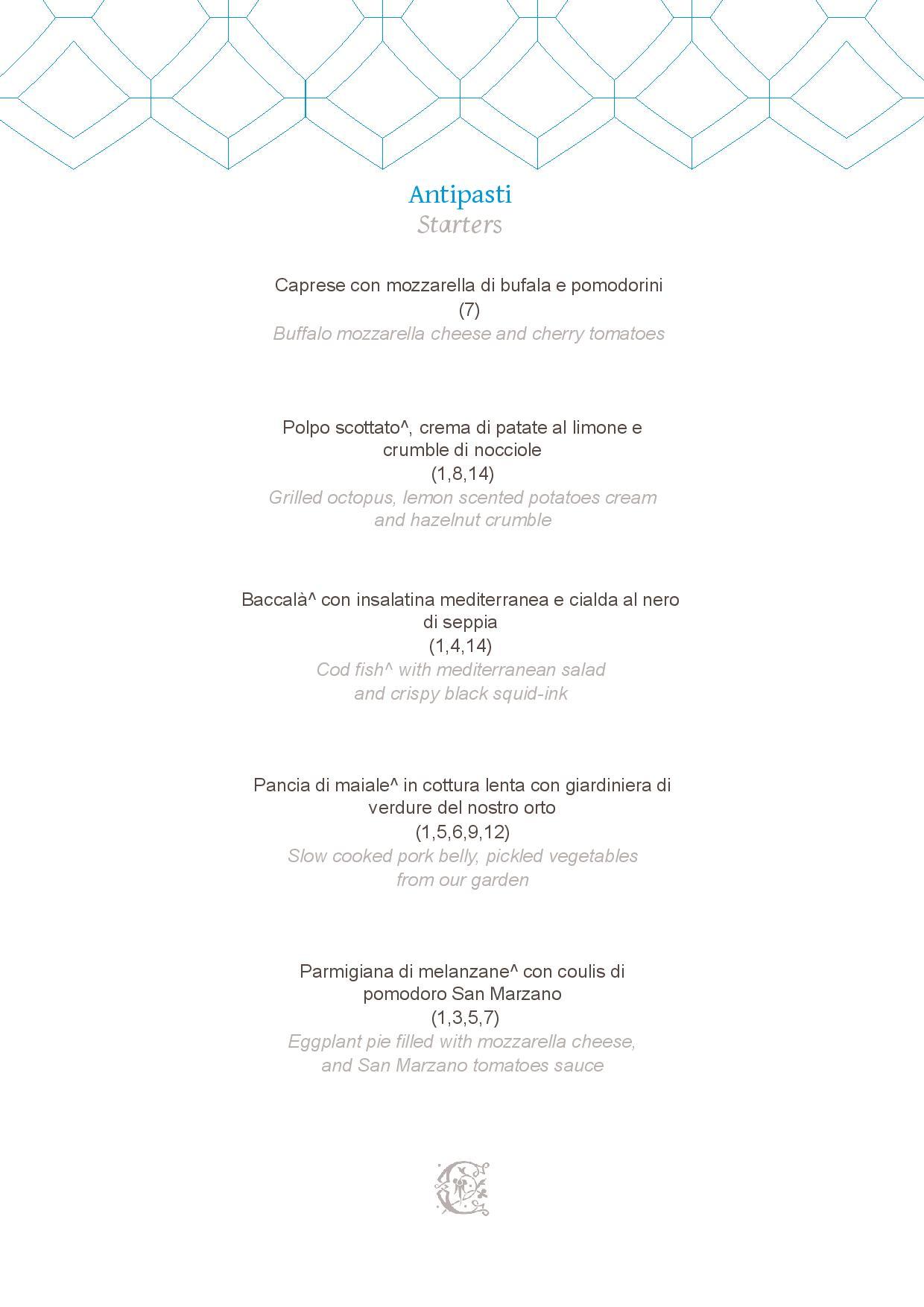 Dei Cappuccini MENU luglio 2020 half board page 001 - REVIEW - NH Collection Grand Hotel Convento di Amalfi : Junior Suite with Tatami bed [COVID-era]
