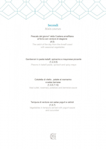Dei Cappuccini MENU luglio 2020 half board page 003 1086x1536 640x480 - REVIEW - NH Collection Grand Hotel Convento di Amalfi : Junior Suite with Tatami bed [COVID-era]