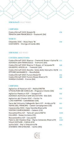 Dei Cappuccini wines menu luglio 2020 1 page 006 766x1536 640x480 - REVIEW - NH Collection Grand Hotel Convento di Amalfi : Junior Suite with Tatami bed [COVID-era]