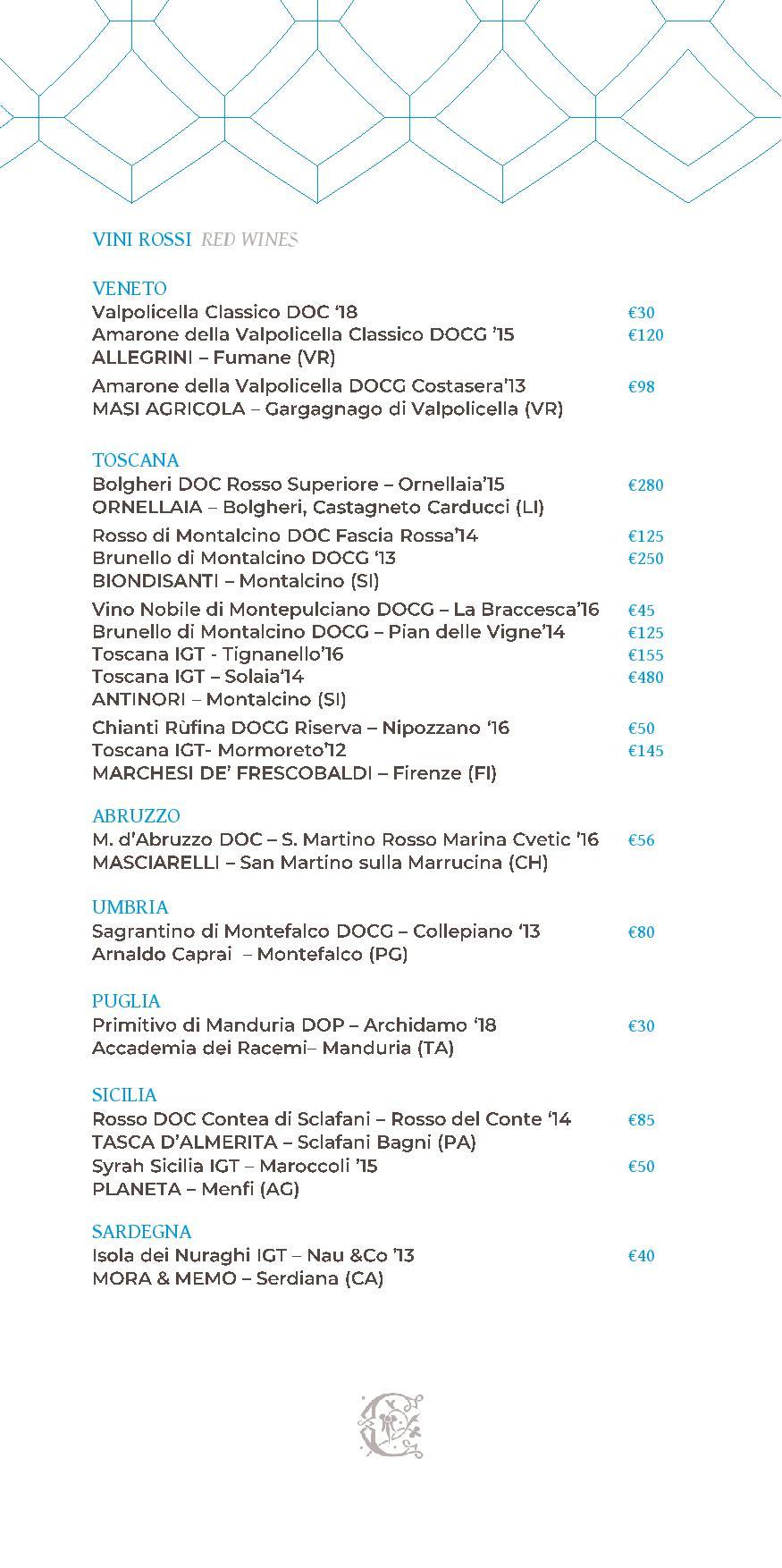 Dei Cappuccini wines menu luglio 2020 1 page 008 - REVIEW - NH Collection Grand Hotel Convento di Amalfi : Junior Suite with Tatami bed [COVID-era]
