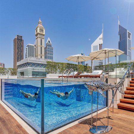 FS DIFC pool 450x450 - REVIEW - Four Seasons Dubai DIFC : Four Seasons Room & Studio Suite [COVID-era]