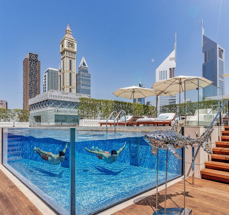 FS DIFC pool 800x750 - REVIEW - Four Seasons Dubai DIFC : Four Seasons Room & Studio Suite [COVID-era]