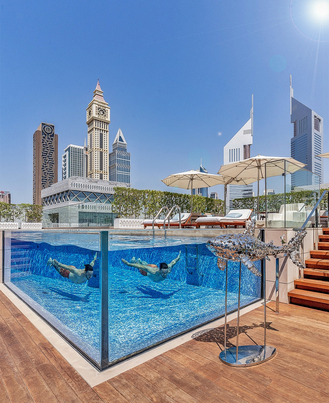 FS DIFC pool - REVIEW - Four Seasons Dubai DIFC : Four Seasons Room & Studio Suite [COVID-era]