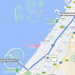 andaz to FS DIFC 300x300 - REVIEW - Four Seasons Dubai DIFC : Four Seasons Room & Studio Suite [COVID-era]