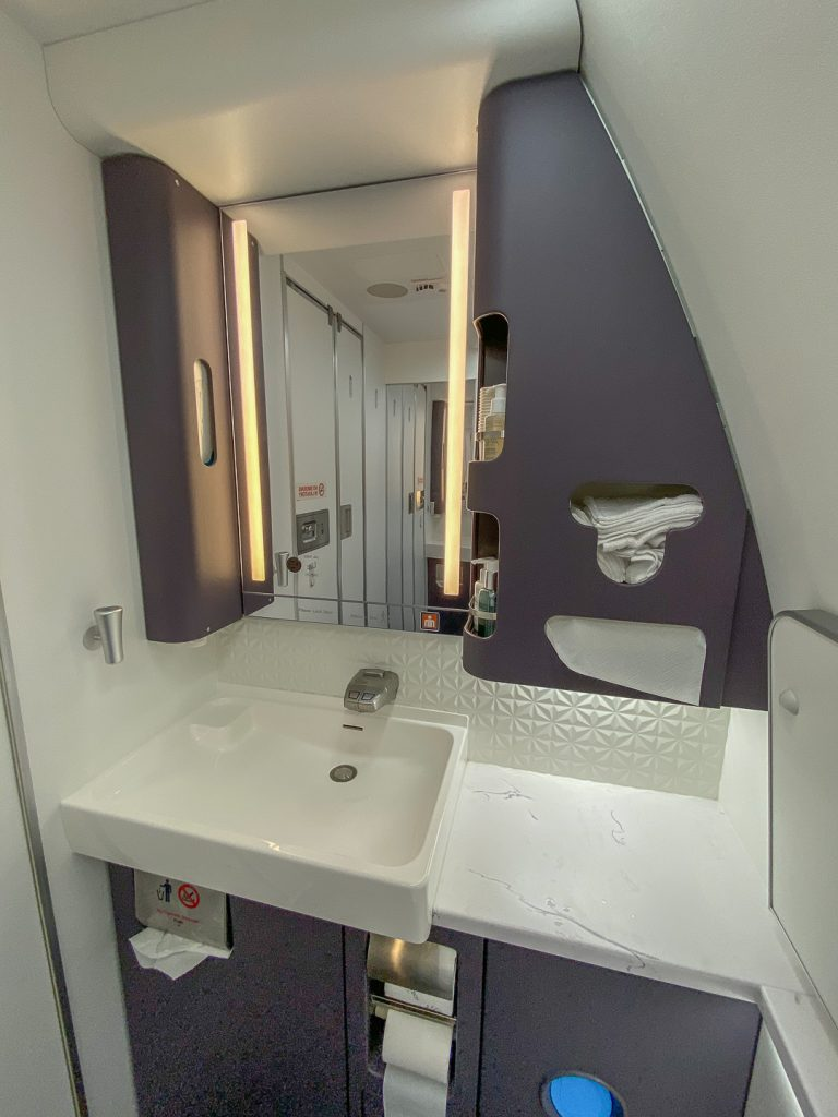 BA 77WN F 43 768x1024 - REVIEW - British Airways : First Class Suites - B777 - London (LHR) to Malé (MLE) - [COVID-era]