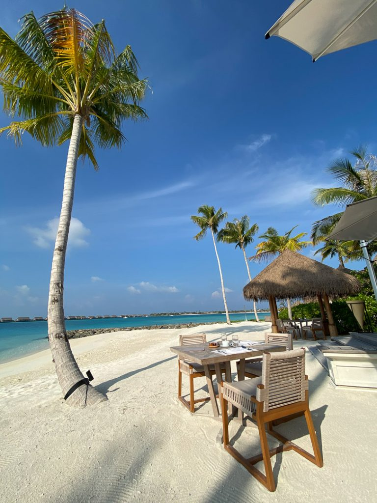 waldorf astoria maldives dining 5 768x1024 - REVIEW - Waldorf Astoria Maldives Ithaafushi : King Reef Villa & King Ocean Villa