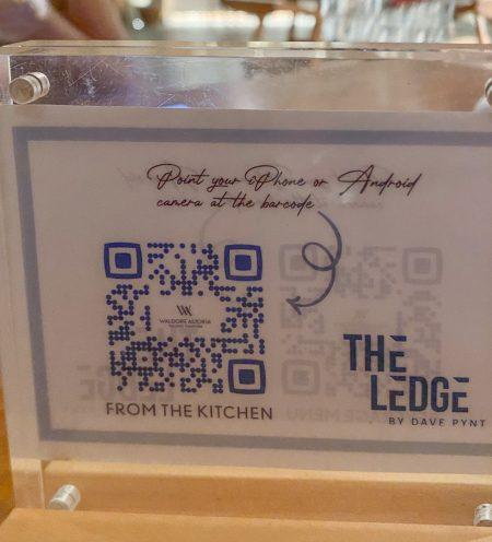 waldorf the ledge menu qr 1 450x496 - REVIEW - Waldorf Astoria Maldives Ithaafushi : King Reef Villa & King Ocean Villa