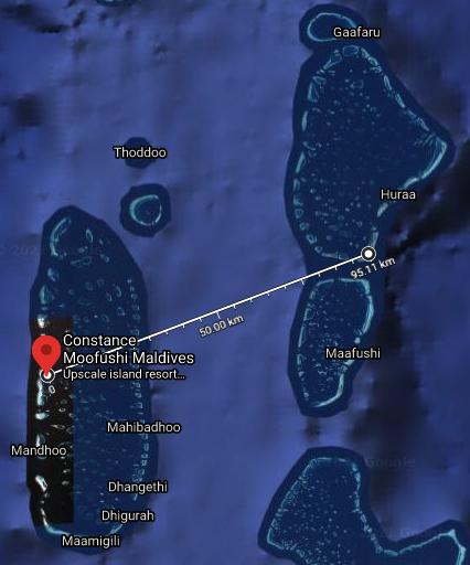 moofushi plane map - REVIEW - Constance Moofushi : Water Villa