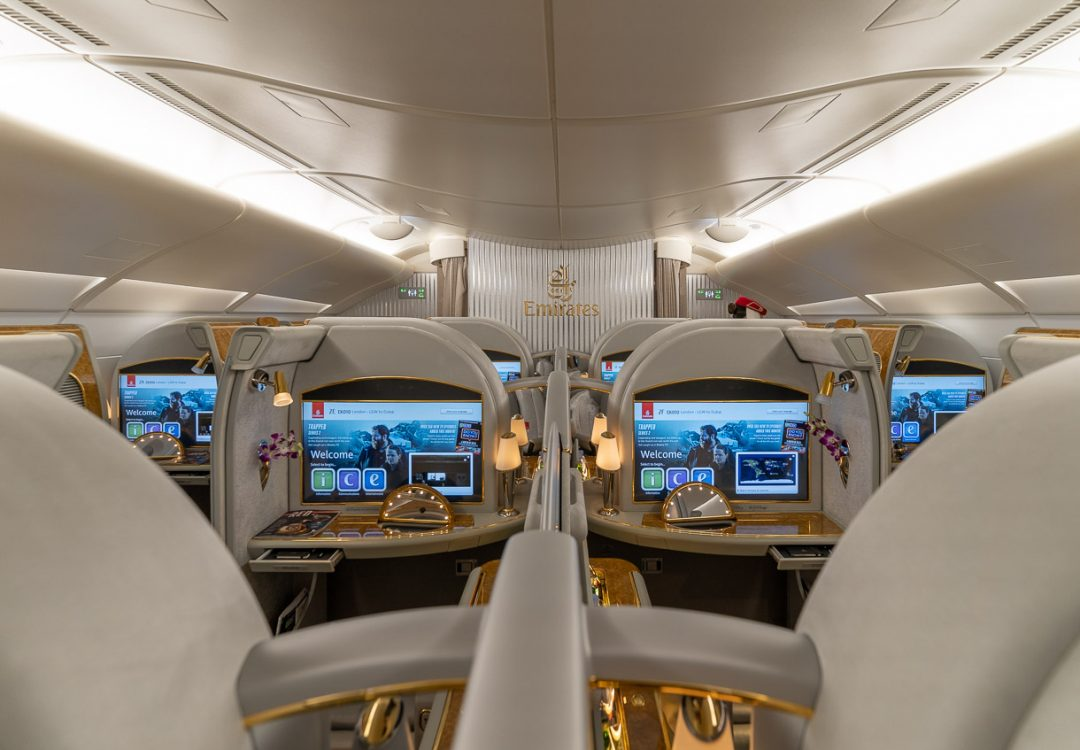 Emirates A380 First Class cabin