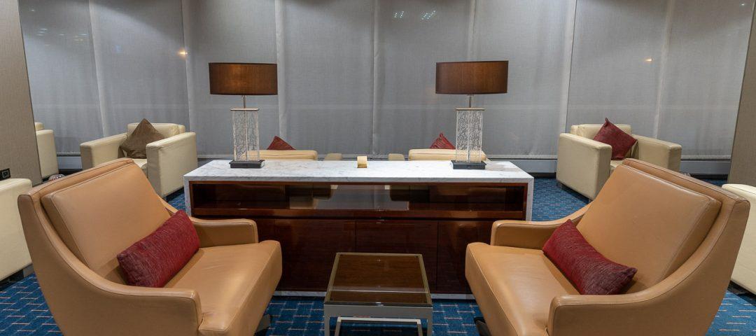 Emirates Gatwick Lounge seating