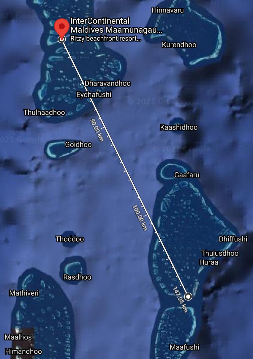 IC Maldives seaplane - REVIEW - InterContinental Maldives