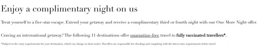 MO qaurantine 880x174 - FANTASTIC DEAL: Mandarin Oriental 3rd Night Free offer