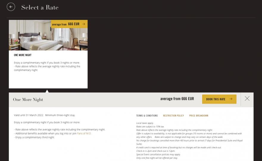 mo booking 2 880x542 - FANTASTIC DEAL: Mandarin Oriental 3rd Night Free offer